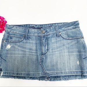 Abercrombie & Fitch Distressed Denim Skirt